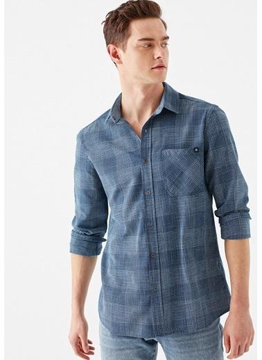 Mavi Kareli  Gömlek İndigo